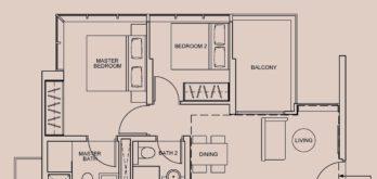 wilshire-residences-floor-plan-2-bedroom-type-b-singapore
