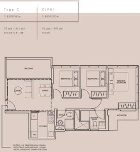 wilshire-residences-floor-plan-3-bedroom-type-c-singapore